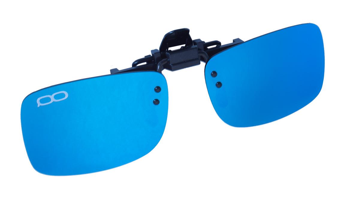 Поляризационные накладки на очки FGPO clip-on Revo Ice Blue