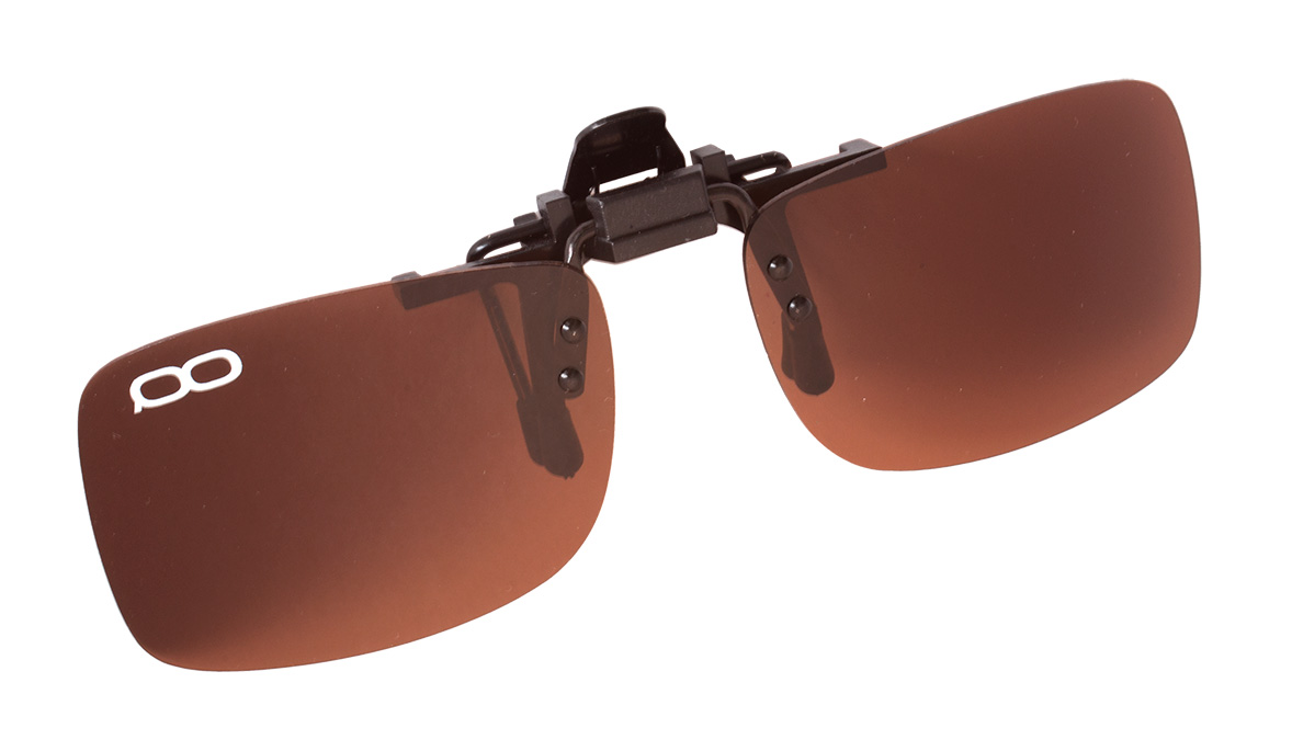 Поляризационные накладки на очки FGPO clip-on Brown