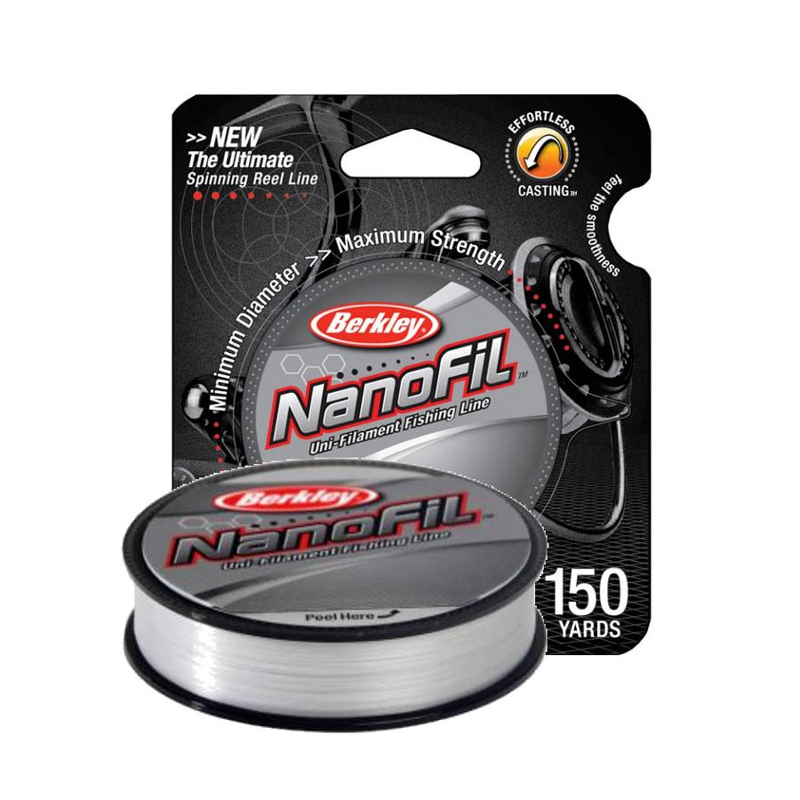 Леска Berkley® NanoFil 125м 0,08 clear 4,012 кг