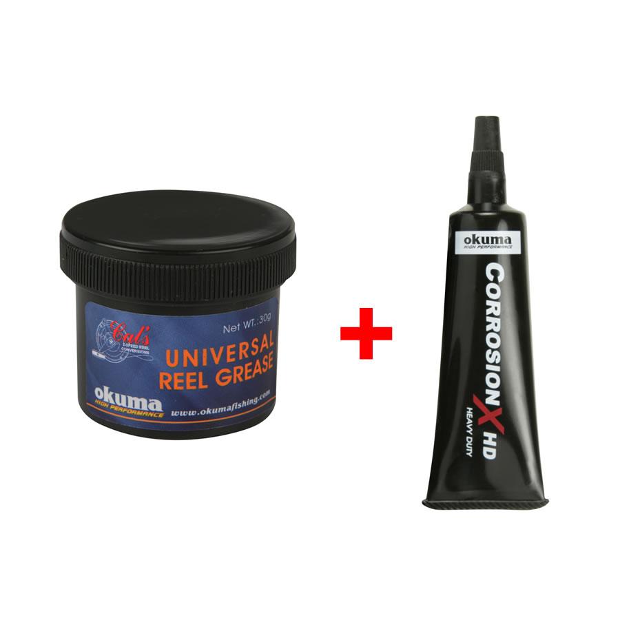 Okuma Универсальная смазка для катушек: 30 грамм + 10 мл Corrosion-X HD oil